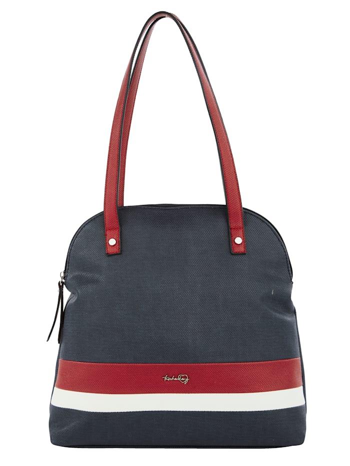 Taschenherz Shopper in harmonieuze kleuren, Marine/Rood