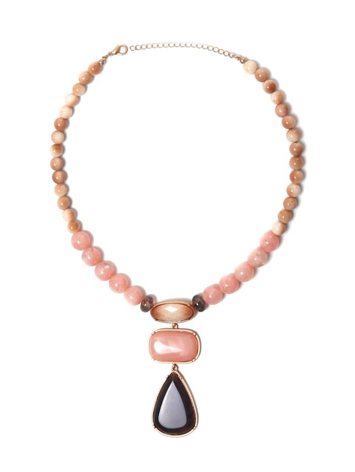 Collezione Alessandro Kurze Kette Elisabeth in marmorierter Optik, rosa