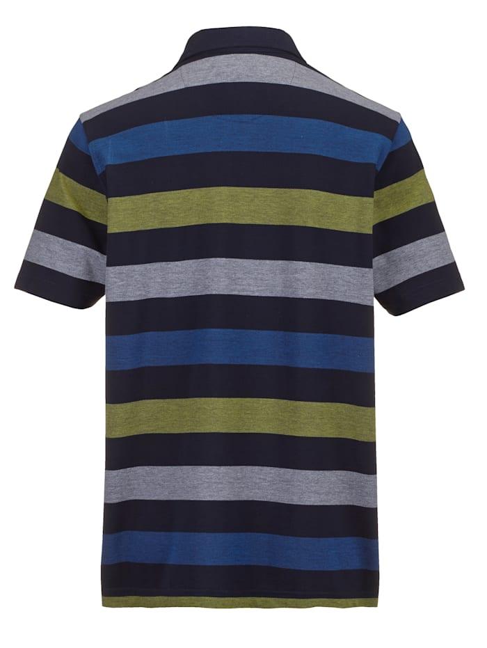 Poloshirt in een fijne gemêleerde look