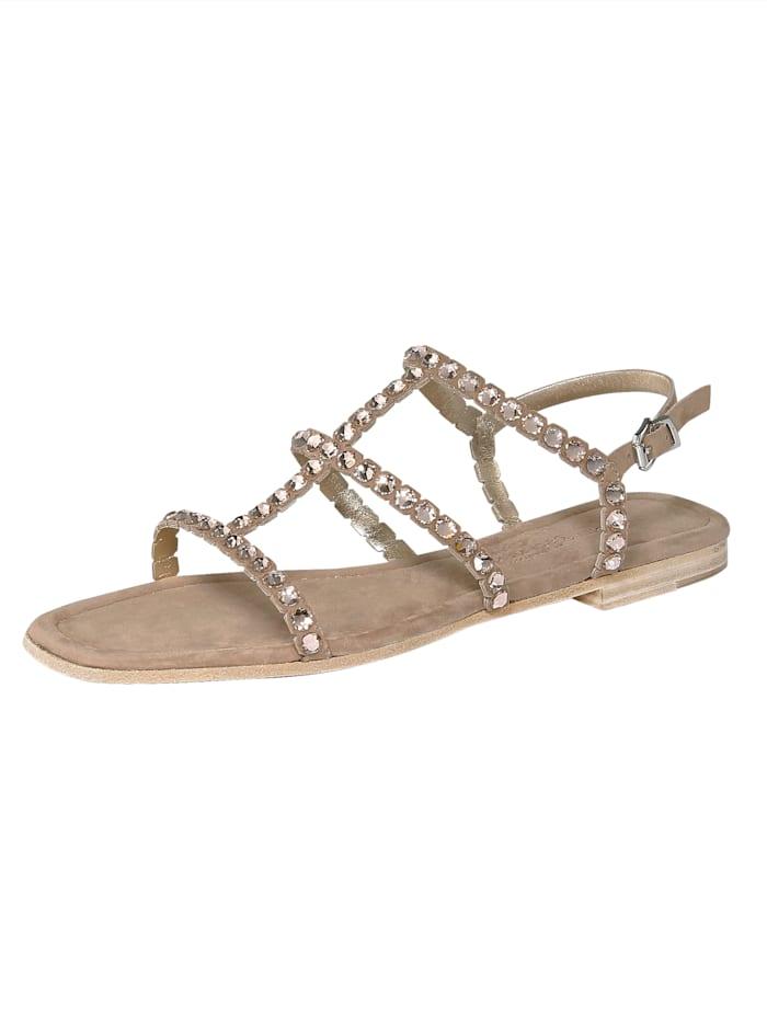 Sandaaltje met chique siersteentjes