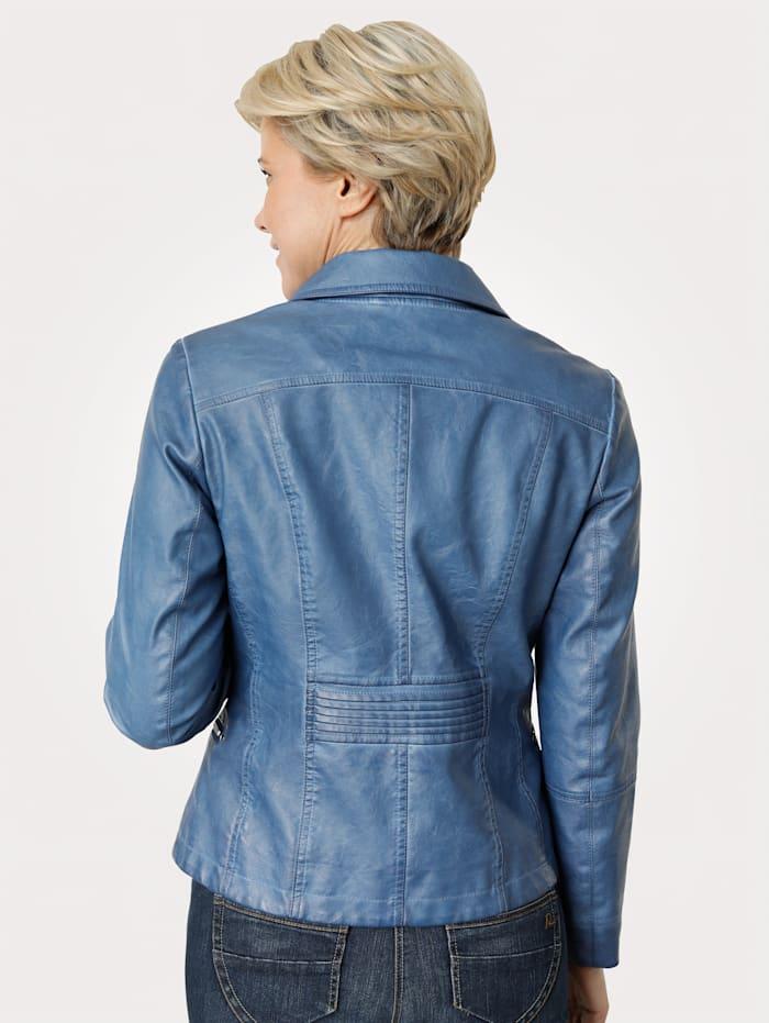Imitatieleren jasje in washed look