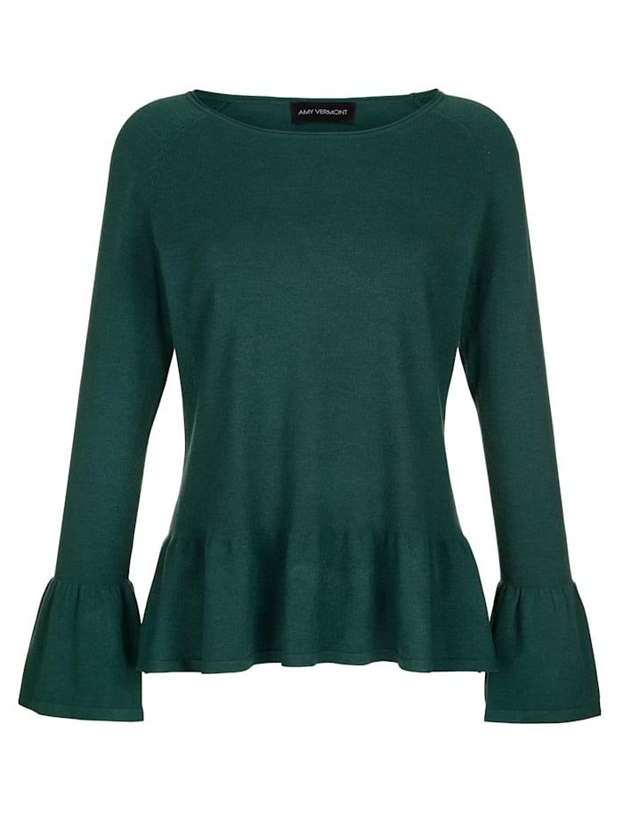 Pullover mit Volantabschlüssen