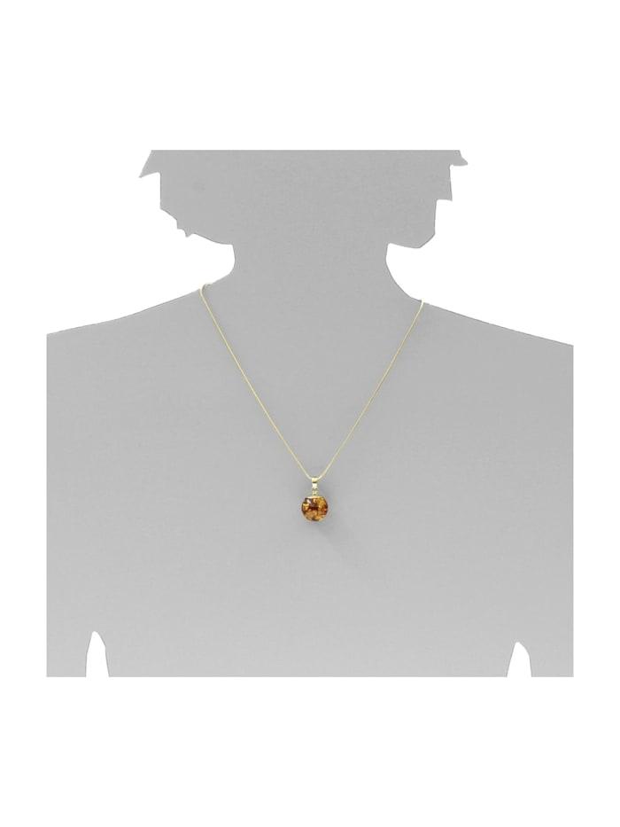 Anhänger - Fanja - Gold 333/000 - Bernstein