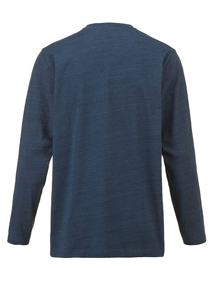 T-shirt col tunisien en coton mélangé facile d'entretien