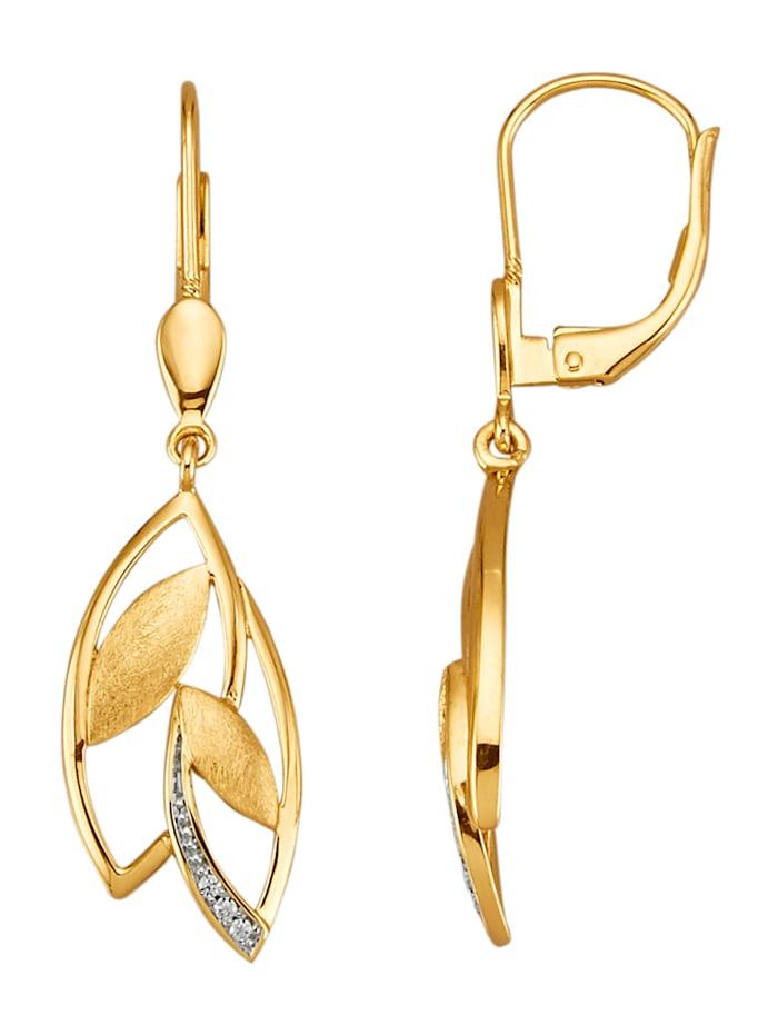 AMY VERMONT Örhängen med diamant, Guldfärgad