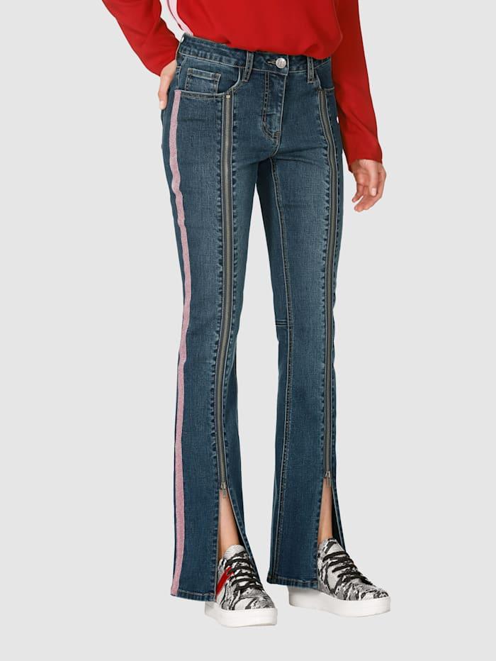 AMY VERMONT Jeans mit unterlegtem Reißverschluss, Blue stone