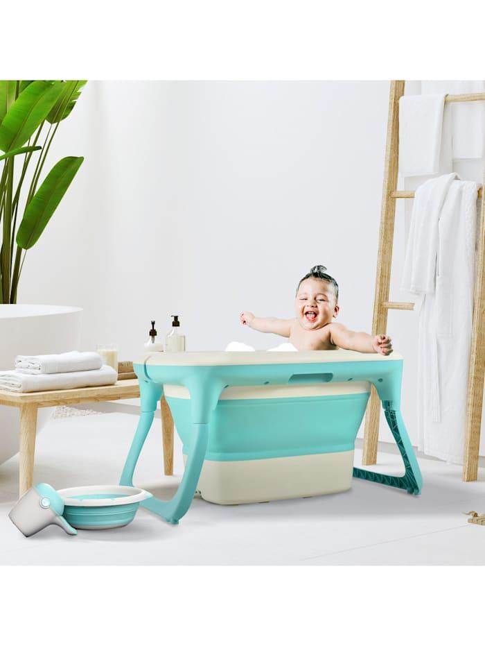 Babybadewanne mit Waschbecken und Shampoobecher