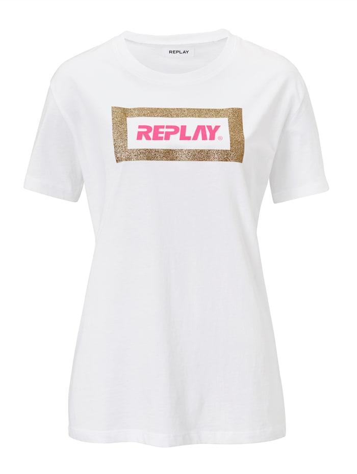 REPLAY T-Shirt, Weiß