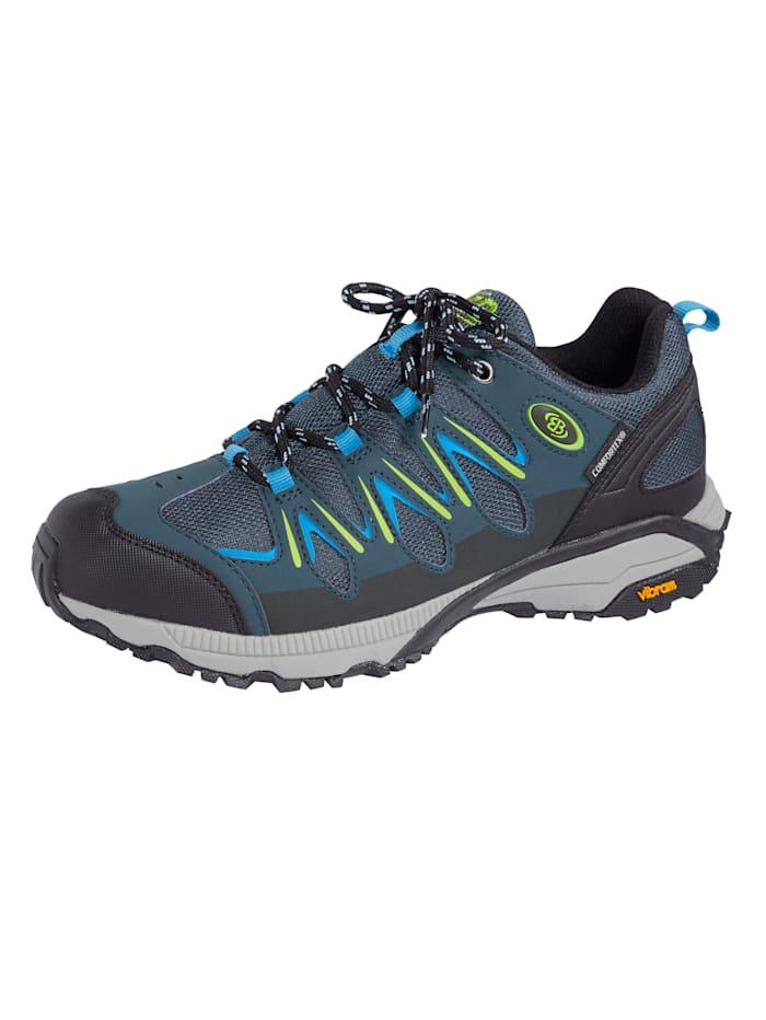 Brütting Sneakers avec membrane climatique, Marine/Bleu/Jaune citron