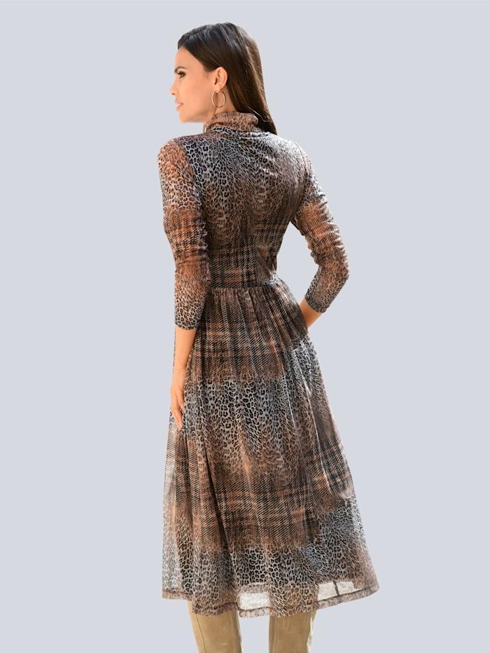 Jerseykleid im Animalprint allover
