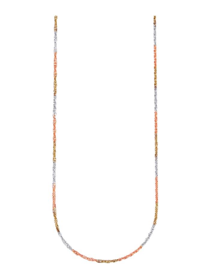 Gedraaide ketting, Geelgoudkleur/Roodgoudkleur/Zilverkleur