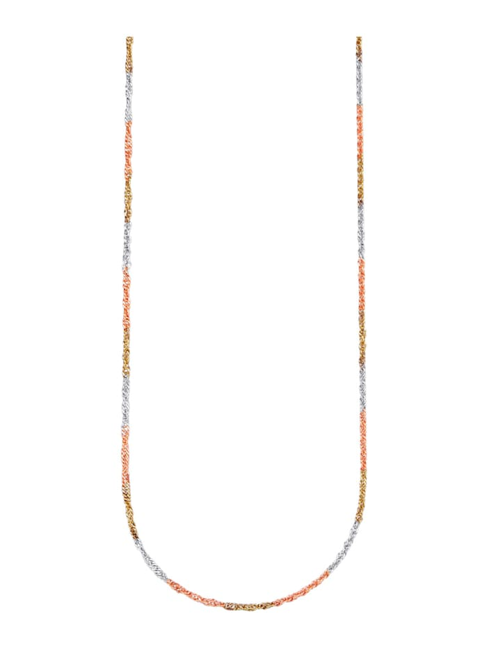 KLiNGEL Gedraaide ketting, Geelgoudkleur/Roodgoudkleur/Zilverkleur