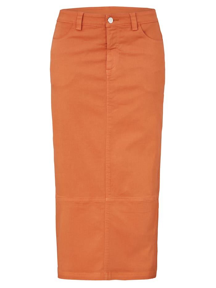 REKEN MAAR Jeansrock, Orange