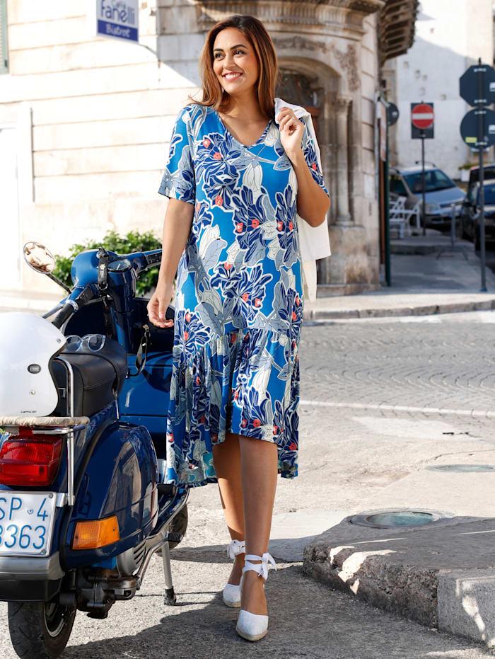 Kleid mit Volant am Saum