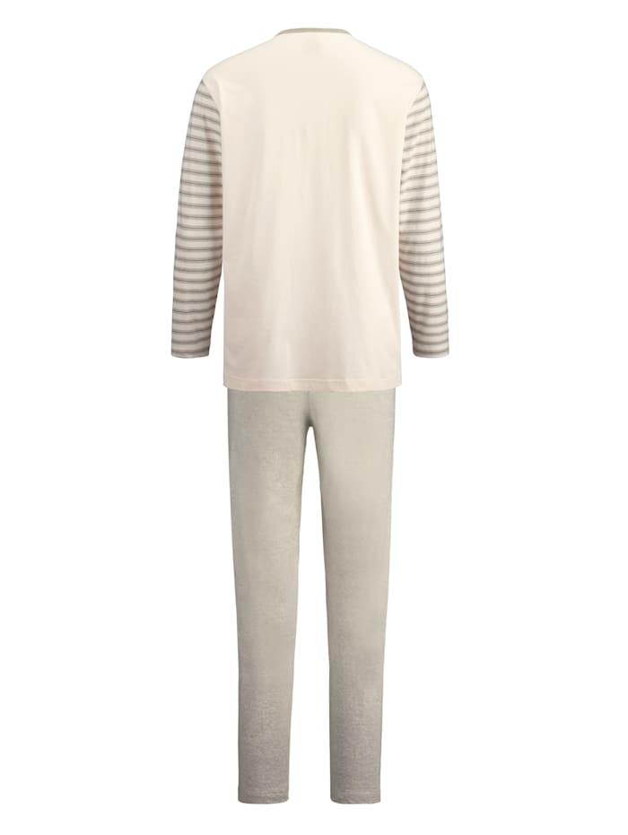 Pyjama van in kleur geteeld katoen