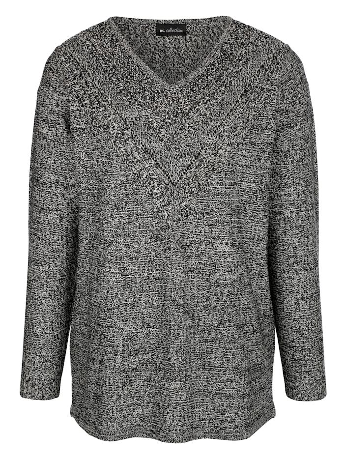 Pullover mit Ajourmuster im Vorderteil