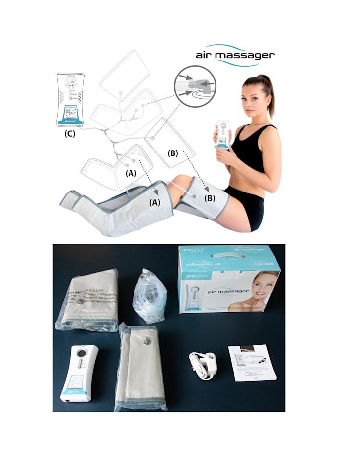 Prorelax® Air Massager för benmassage