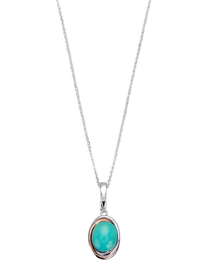 Hanger met ketting, Turquoise