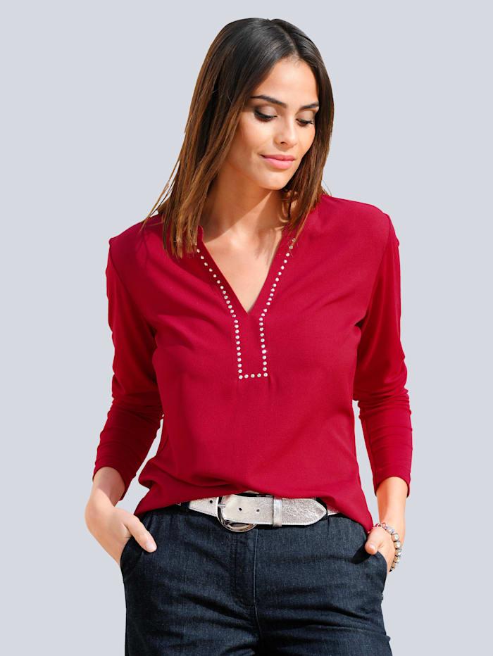 Alba Moda Shirt in kombinierfreundlicher Farbstellung, Rot