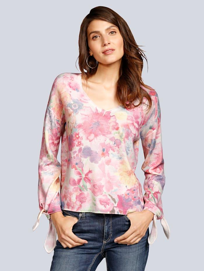 Pullover mit Blumen in Aquarelloptik