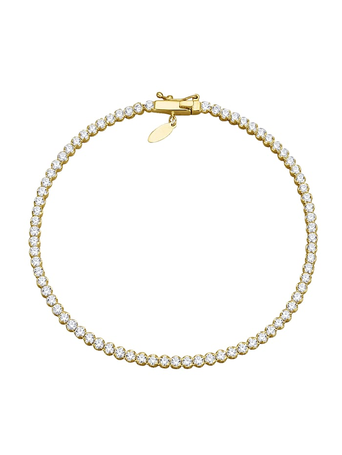 Bracelet orné de zirconia, Blanc
