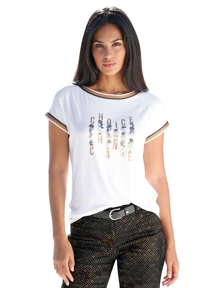 Shirt mit Biesen und platzierten Schriftzug