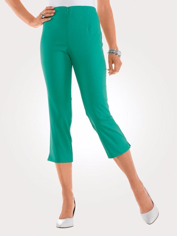 MONA 7/8 Hose mit Baumwolle Basic, Smaragd