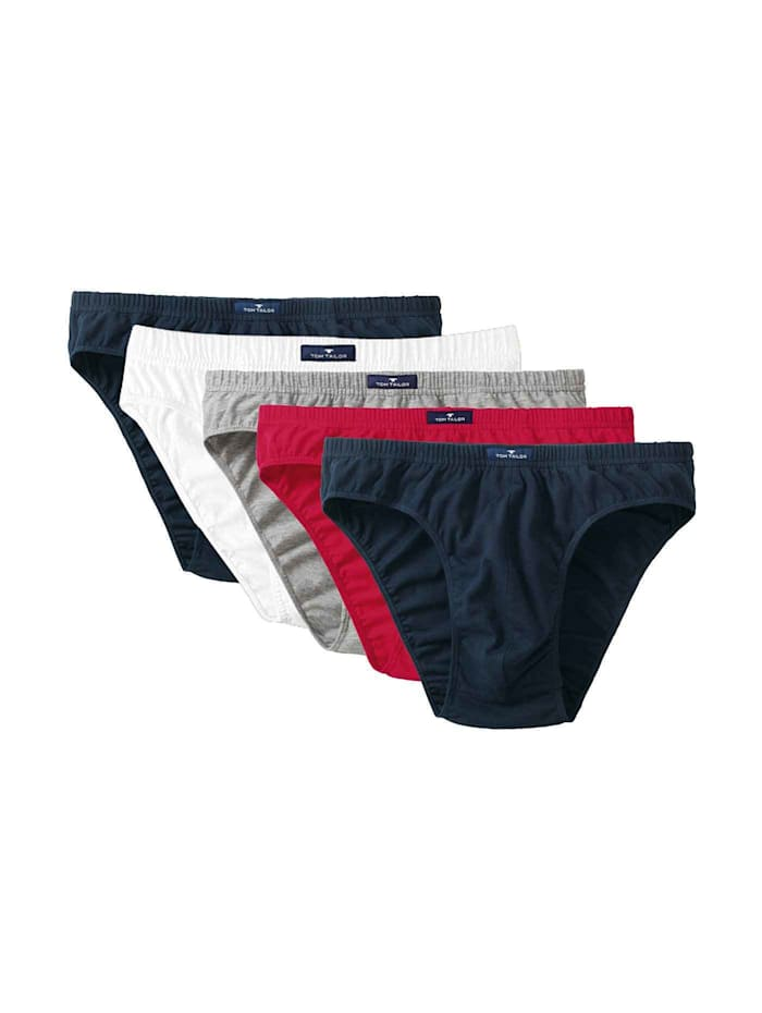 Tom Tailor Mini Slip 5er Pack, navy-white-red-melange