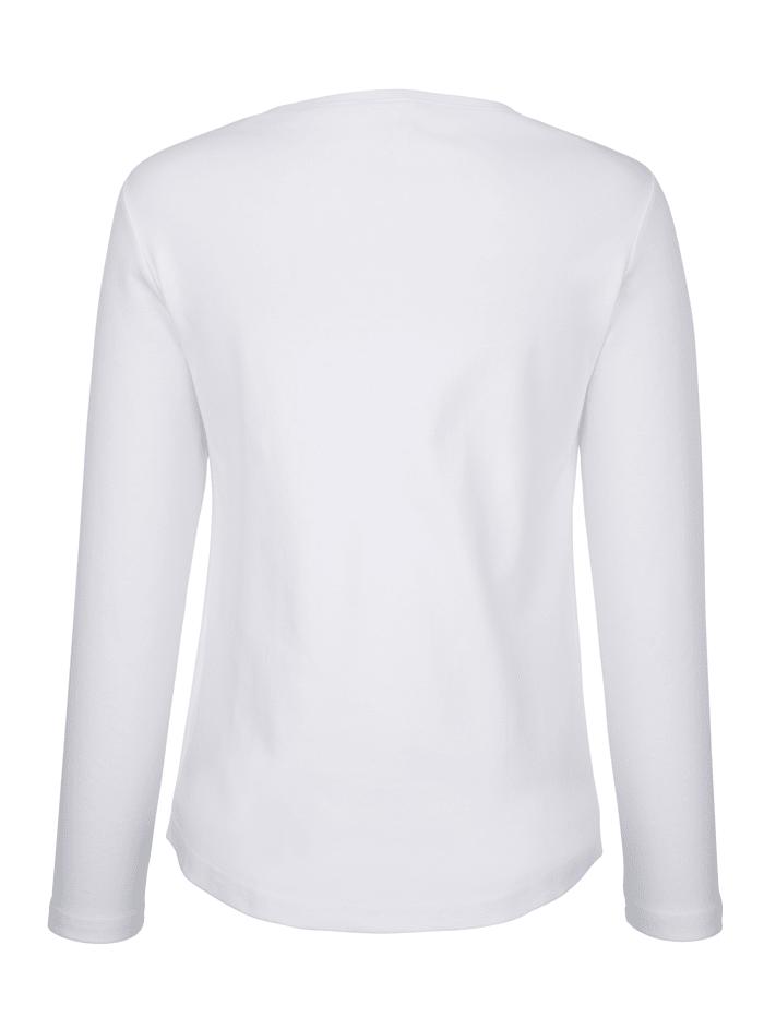 Shirt met dierenmotief van pailletten
