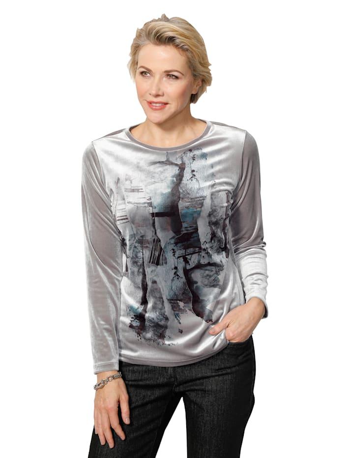 T-shirt en velours à imprimé placé