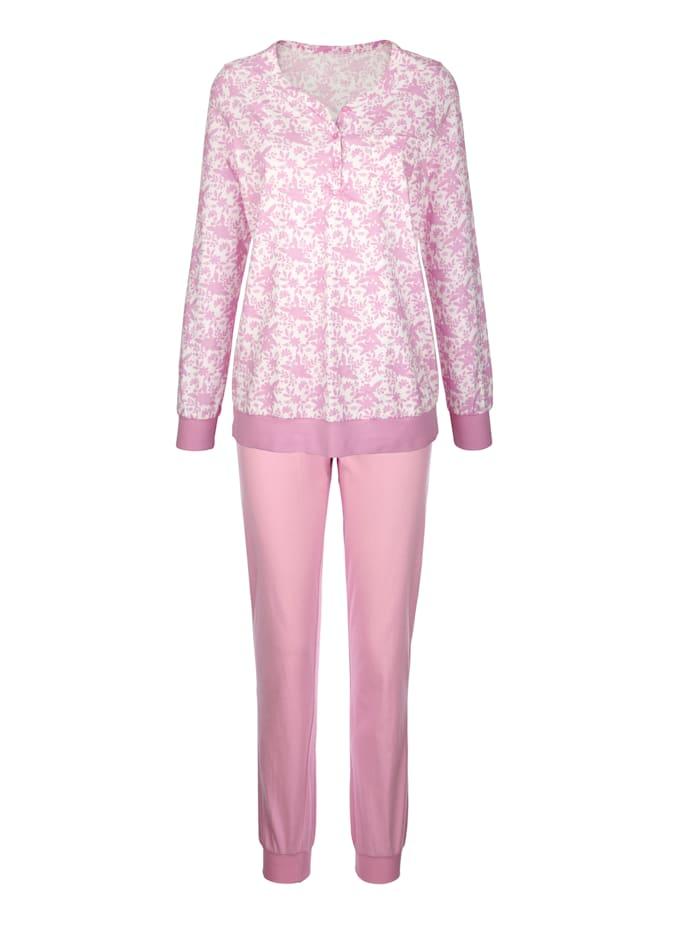 Pyjama's per 2 stuks met schattig borstzakje