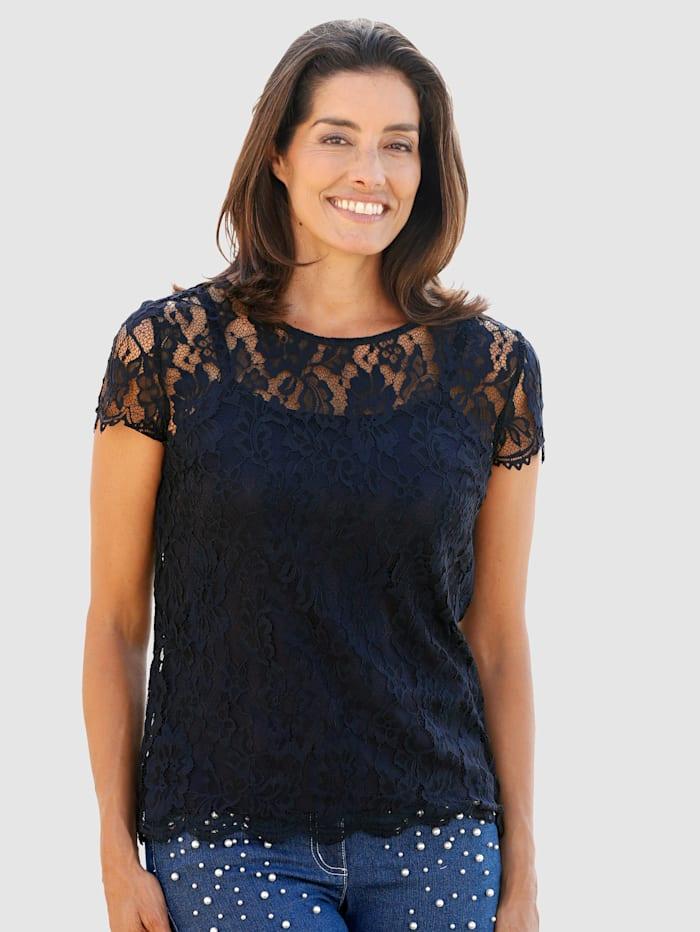 Čipkové tričko v módnom vzhľade 2v1