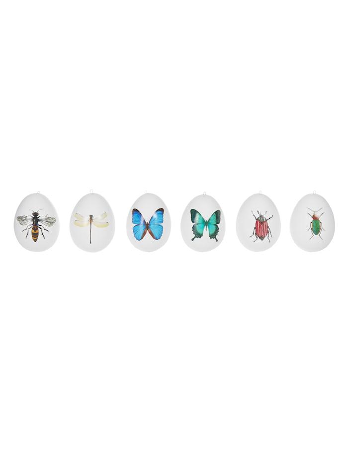 IMPRESSIONEN living Set oeuf de Pâques, 6 pièces, Multicolore