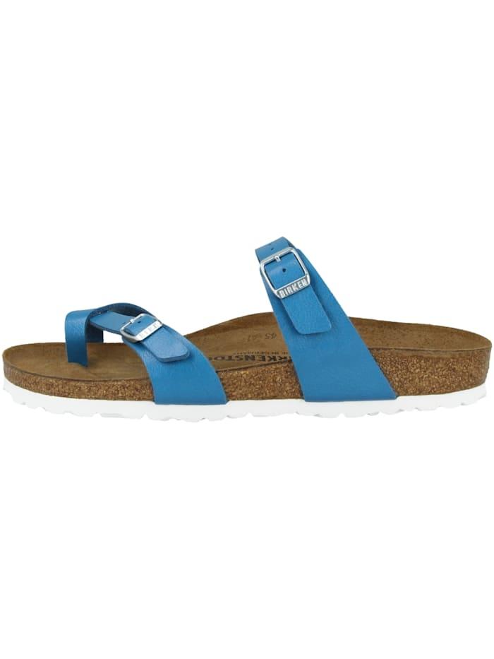 Birkenstock Pantolette Mayari Birko-Flor schmal, blau