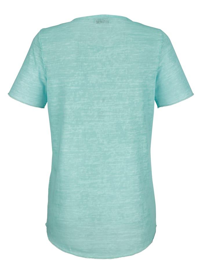 Shirt met details van glansgaren