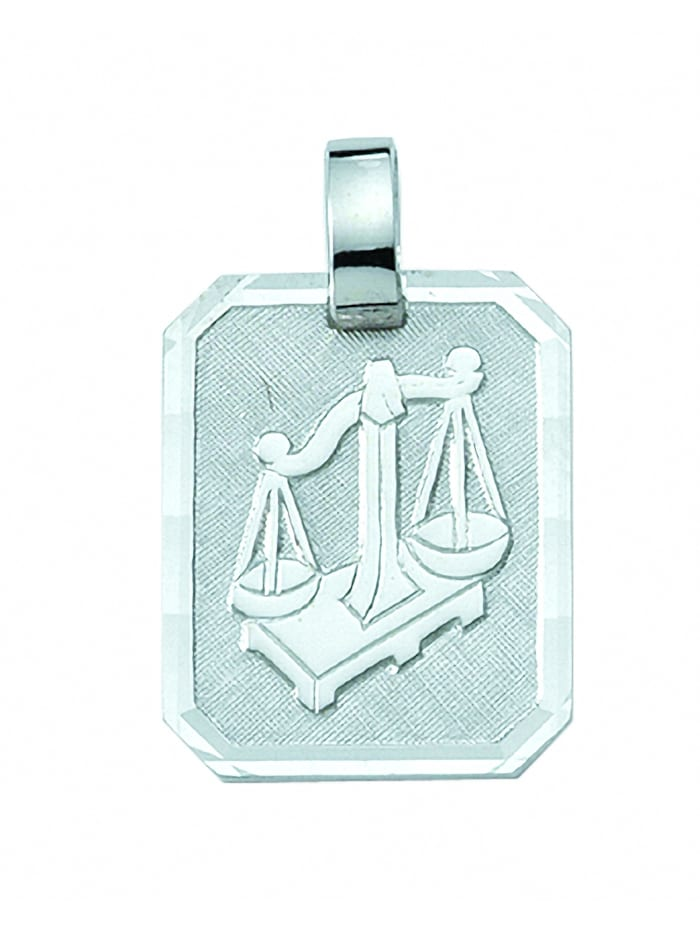 1001 Diamonds Damen & Herren Silberschmuck 925 Silber Sternzeichen Anhänger Waage, silber