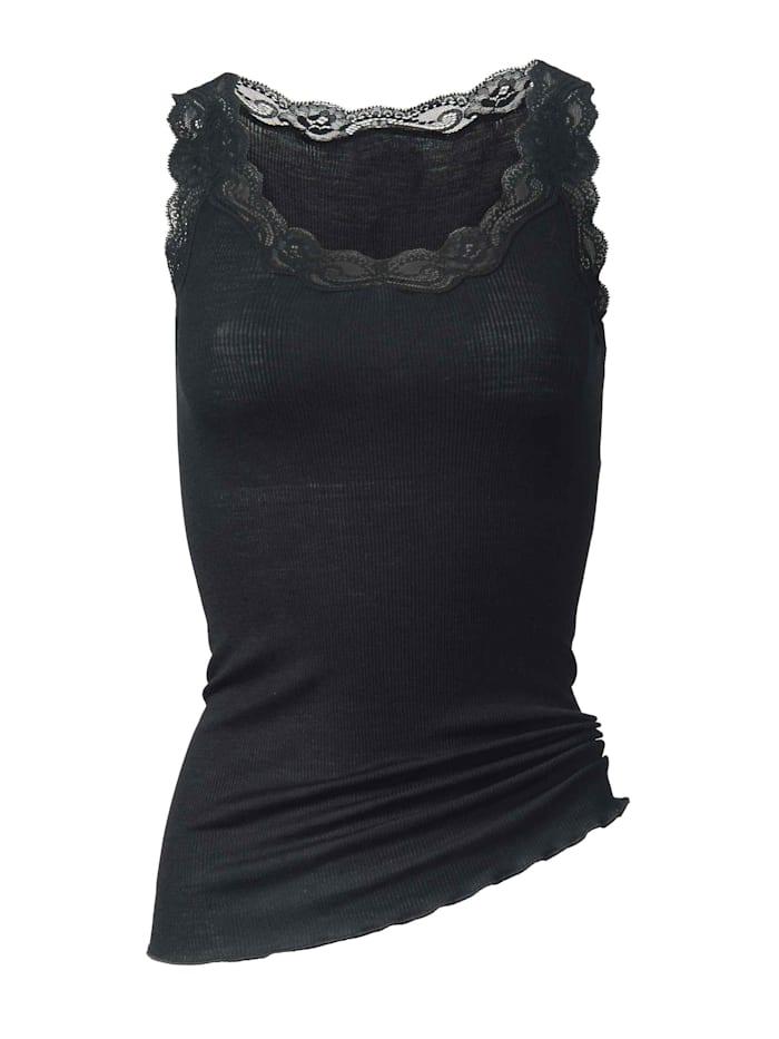 Calida Top ohne Arm aus Wolle & Seide STANDARD 100 by OEKO-TEX zertifiziert, Black