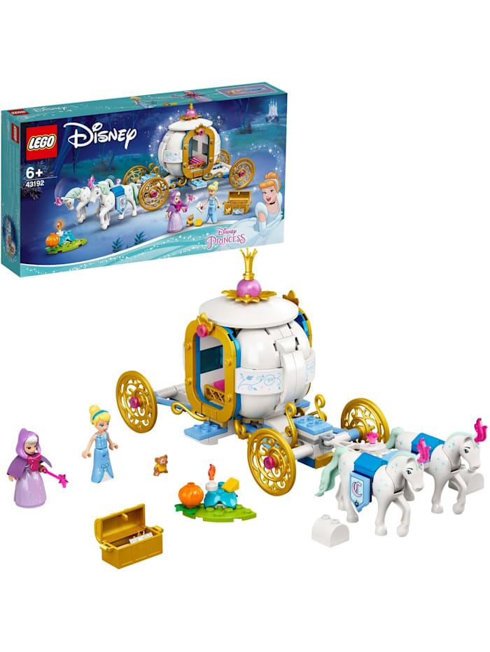 LEGO Konstruktionsspielzeug Disney Princess Cinderellas königliche Kutsche, Bunt