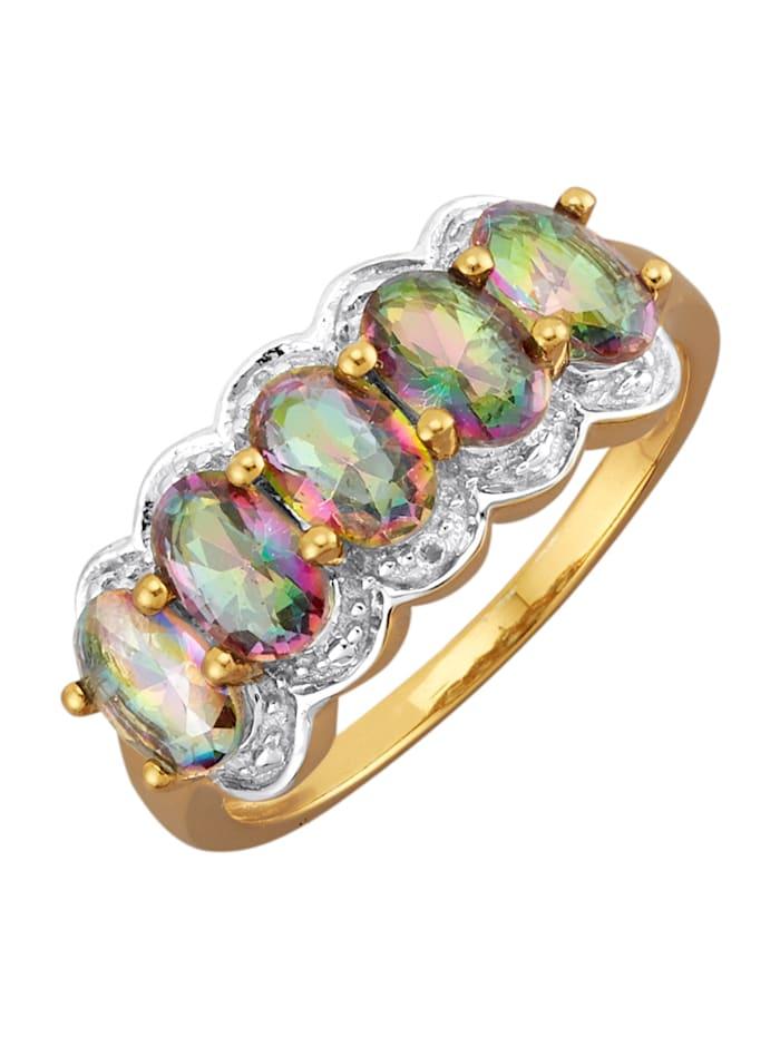Damenring in Silber 925, Multicolor