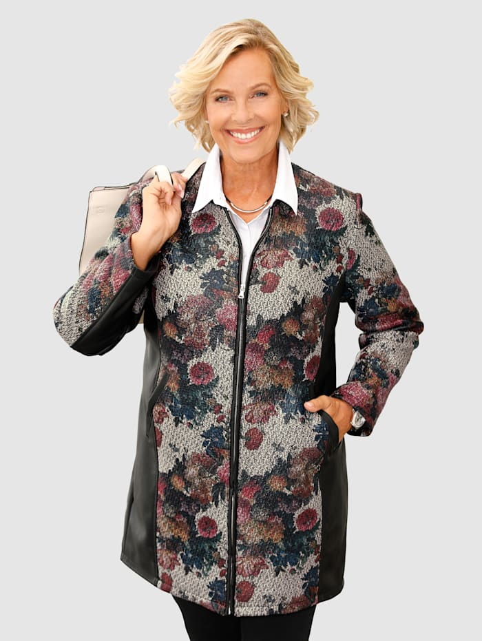 m. collection Jacke mit buntem Muster, Multicolor