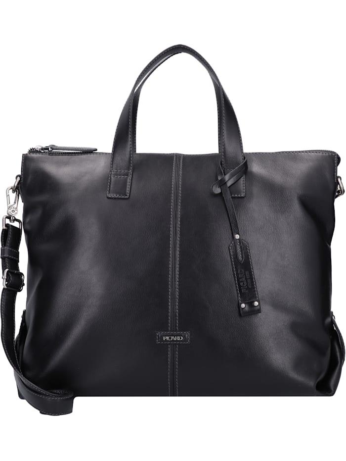 Picard Eternity Handtasche Leder 42 cm, schwarz