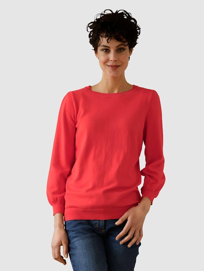 Dress In Pullover mit Ballonärmel, Rot