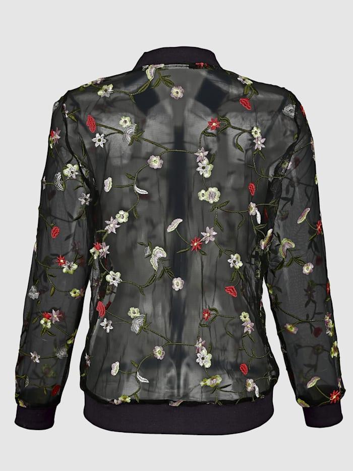Bluzón v transparentnej tkanine