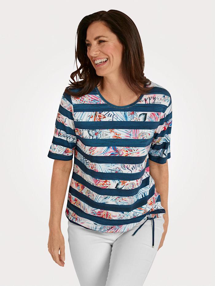 Rabe Shirt, Marine/Wit/Koraal