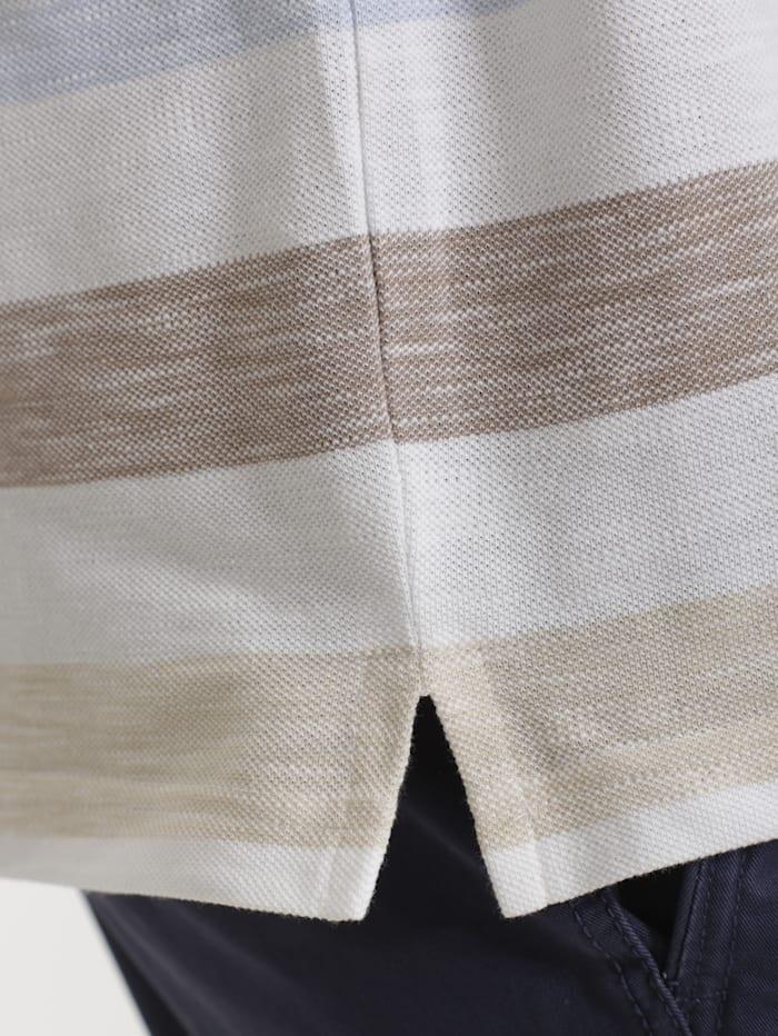 Poloshirt in Melange-Optik