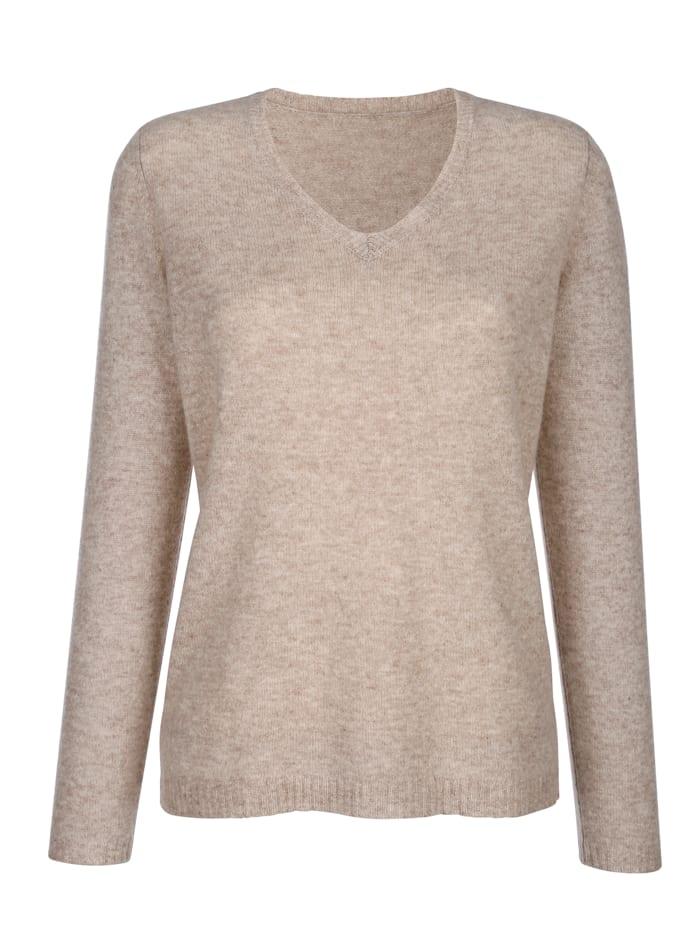 MONA Pullover aus reinem Kaschmir, Beige