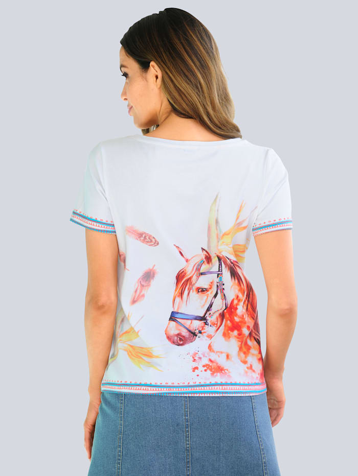 Strandshirt mit Motivdruck