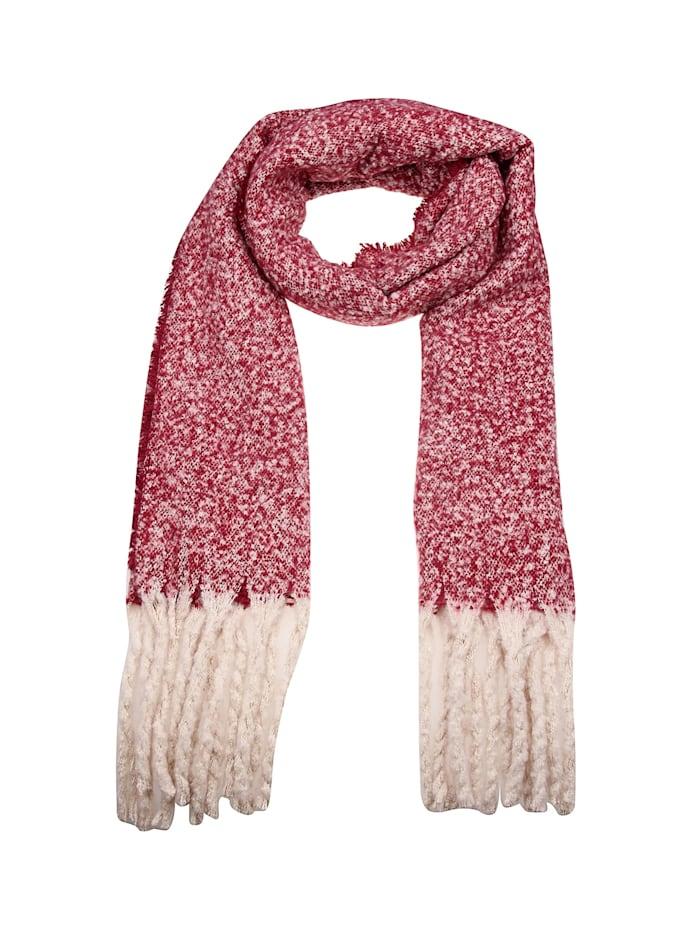 Leslii Schal mit elegantem Muster, rot-beige