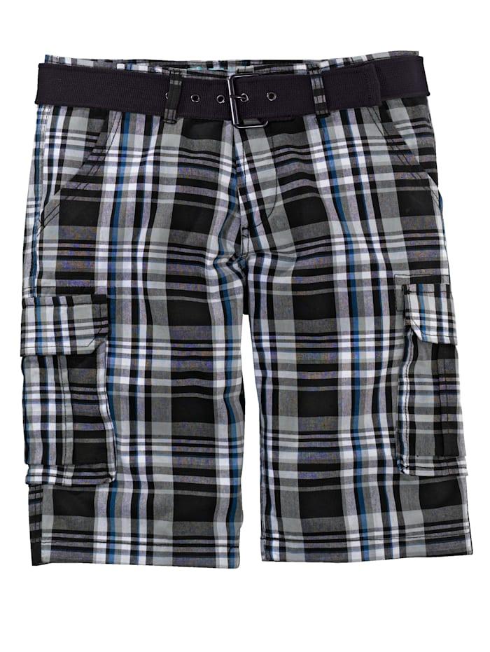 Men Plus Shorts i regular fit, Svart/Vit/Blå