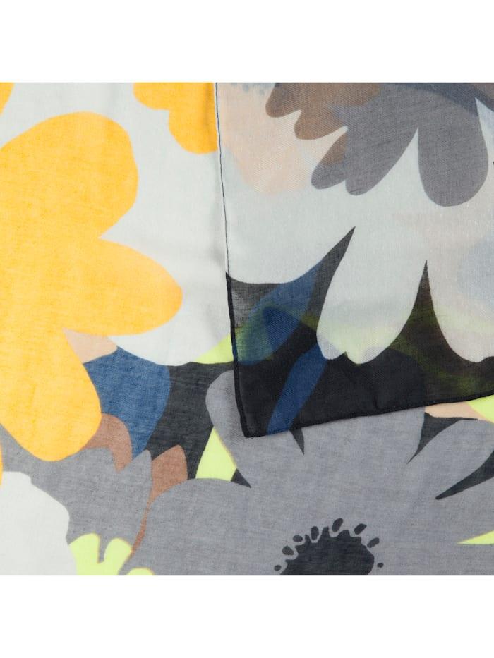 XL-Schal mit Jumbo Flowers aus recyceltem Polyester